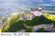 Gutenberg Castle in town of Balzers, Liechtenstein. Стоковое фото, фотограф Яков Филимонов / Фотобанк Лори