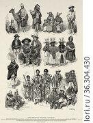 Peruvian and Bolivian native Indians. 1 Puna llama muleteer, 2-3 ... Редакционное фото, фотограф Jerónimo Alba / age Fotostock / Фотобанк Лори
