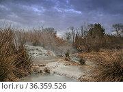 Die heißen Quellen von Saturnia - noch immer ist der Zugang zu diesem... Стоковое фото, фотограф Zoonar.com/Hans Eder / easy Fotostock / Фотобанк Лори