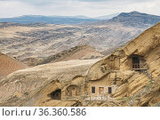 Sagarejo Municipality, Kakheti Region, Georgia. Caves Of Ancient Rock... Стоковое фото, фотограф Ryhor Bruyeu / easy Fotostock / Фотобанк Лори