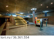 BERLIN - AUGUST 24: Bundestag Subway Station (U-Bahn Station) on ... Стоковое фото, фотограф Zoonar.com/Andrey Omelyanchuk / age Fotostock / Фотобанк Лори