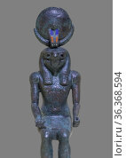 Ancient Egypt God Khonsu, son of Amun and Mut. Bronze. Late period... Стоковое фото, фотограф Juan García Aunión / age Fotostock / Фотобанк Лори