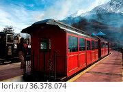 Tren fin del Mundo - The End of the World Train, Tierra del Fuego... Стоковое фото, фотограф Zoonar.com/Ksenia Ragozina / easy Fotostock / Фотобанк Лори