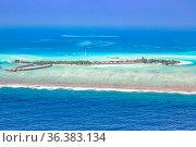 Malediven Insel Urlaub Paradies Meer Panorama Textfreiraum Copyspace... Стоковое фото, фотограф Zoonar.com/Markus Mainka / easy Fotostock / Фотобанк Лори