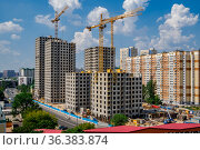 "Москва, ЖК ""Авиатика"" Редакционное фото, фотограф glokaya_kuzdra / Фотобанк Лори"