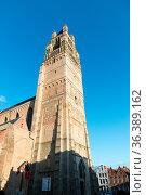 Sint-Salvator Cathedral at sunny day in Bruges, Belgium. Стоковое фото, фотограф Zoonar.com/Yuri Dmitrienko / easy Fotostock / Фотобанк Лори