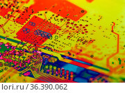 Microchip technology concept background with circuit board electronic... Стоковое фото, фотограф Zoonar.com/BASHTA / easy Fotostock / Фотобанк Лори