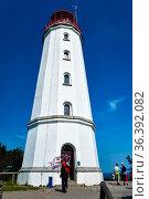 Lighthouse Dornbusch on Isle Hiddensee. Стоковое фото, фотограф Zoonar.com/Stefan Dinse / easy Fotostock / Фотобанк Лори