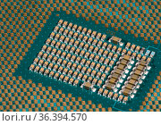 Macro photo of the center of the CPU chip ready for insertion into... Стоковое фото, фотограф Zoonar.com/Steve Heap / easy Fotostock / Фотобанк Лори