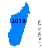Karte von Madagaskar 2018 - Map of Madagascar 2018. Стоковое фото, фотограф Zoonar.com/Robert Biedermann / easy Fotostock / Фотобанк Лори
