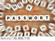 Passwort Computer Sicherheit Internet Schutz Datensicherheit Würfel... Стоковое фото, фотограф Zoonar.com/Markus Mainka / easy Fotostock / Фотобанк Лори