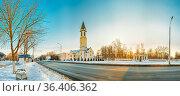Gomel, Belarus. Church Of The Nativity Of The Virgin Mary On Sovetskaya... Стоковое фото, фотограф Ryhor Bruyeu / easy Fotostock / Фотобанк Лори