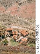 Sagarejo Municipality, Kakheti Region, Georgia. Aerial View Of Ancient... Стоковое фото, фотограф Ryhor Bruyeu / easy Fotostock / Фотобанк Лори