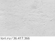 White concrete wall with plastering. Frontal view. Стоковое фото, фотограф EugeneSergeev / Фотобанк Лори