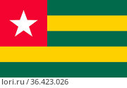 Fahne von Togo - Colored flag of Togo. Стоковое фото, фотограф Zoonar.com/lantapix / easy Fotostock / Фотобанк Лори