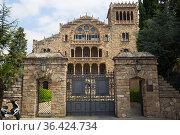 Asylum of Santo Cristo in Pla de San Agustin de Igualada. Spain (2017 год). Стоковое фото, фотограф Татьяна Яцевич / Фотобанк Лори