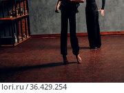 Ballroom dancing. Young couple ballroom dancers. Latin dance and dancer... Стоковое фото, фотограф Zoonar.com/Max / easy Fotostock / Фотобанк Лори