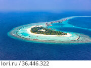 Malediven Insel Urlaub Paradies Meer Textfreiraum Copyspace Halaveli... Стоковое фото, фотограф Zoonar.com/Markus Mainka / easy Fotostock / Фотобанк Лори