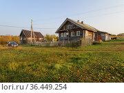Деревня Чимойла (Кукшегоры). Республика Карелия (2020 год). Редакционное фото, фотограф Дмитрий Шишков / Фотобанк Лори