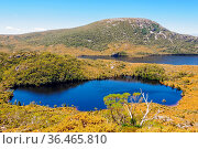 Lake Lilla and Dove Lake photographed from the Wombat Peak in the... Стоковое фото, фотограф Zoonar.com/Laszlo Konya / easy Fotostock / Фотобанк Лори