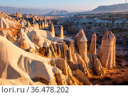 Unusual rock formation in famous Cappadocia, Turkey. Стоковое фото, фотограф Zoonar.com/Galyna Andrushko / easy Fotostock / Фотобанк Лори