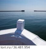 Blick aus einem Borteboot auf die Nordsee und die Ausfahrt aus dem... Стоковое фото, фотограф Zoonar.com/Stefan Ziese / age Fotostock / Фотобанк Лори