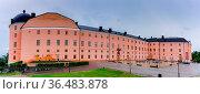 Uppsala, Sweden - 25 June, 2021: panorama view of the Uppsala castle... Стоковое фото, фотограф Zoonar.com/Nando Lardi / easy Fotostock / Фотобанк Лори