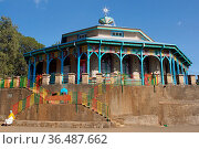 ADDIS ABABA, ETHIOPIA - DECEMBER 5, 2014: Church Entoto Maryam on... Стоковое фото, фотограф Zoonar.com/Alexander Ludwig / age Fotostock / Фотобанк Лори