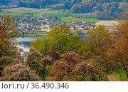 Blick über den Bodensee von Wangen in Baden-Württemberg ins schweizerische... Стоковое фото, фотограф Zoonar.com/Falke / easy Fotostock / Фотобанк Лори
