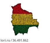 Karte und Fahne von Bolivien auf Mohn - Map and flag of Bolivia on... Стоковое фото, фотограф Zoonar.com/lantapix / easy Fotostock / Фотобанк Лори