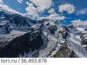 Mount Belukha landscape. Belukha Natural Park. Altai Republic, Russia. Стоковое фото, фотограф Olga Kamenskaya / Nature Picture Library / Фотобанк Лори