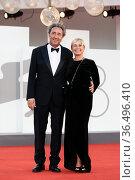 Director Paolo Sorrentino with his wife Daniela D'Antonio during ... Редакционное фото, фотограф Antonelli / AGF/Maria Laura Antonelli / age Fotostock / Фотобанк Лори