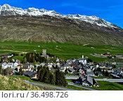 Hospental, Kanton Uri, Schweiz / Hospental, Canton of Uri, Switzerland. Стоковое фото, фотограф Zoonar.com/Pant / easy Fotostock / Фотобанк Лори
