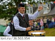 Trommler der City of St Andrews Pipe Band, Ceres, Schottland, Grossbritannien... Стоковое фото, фотограф Zoonar.com/Pant / age Fotostock / Фотобанк Лори