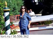 Charlotte Gainsbourg arrives in Darsena. 78th Venice International... Редакционное фото, фотограф Antonelli / AGF/Maria Laura Antonelli / age Fotostock / Фотобанк Лори