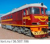 The diesel locomotive production of the USSR. Стоковое фото, фотограф Zoonar.com/Roman Ivashchenko / easy Fotostock / Фотобанк Лори
