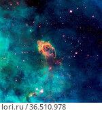 Image of a stellar jet in the Carina Nebula, imaged by Hubble's WFC3... Стоковое фото, фотограф Zoonar.com/Irina Dmitrienko / easy Fotostock / Фотобанк Лори