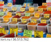 Gewürz, gewürze, markt,türkei, orient, kleinasien, basar, bazar, ... Стоковое фото, фотограф Zoonar.com/Volker Rauch / easy Fotostock / Фотобанк Лори