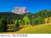 Langkofel in den italienischen Dolomiten - mountains Langkofel in... Стоковое фото, фотограф Zoonar.com/Liane Matrisch / easy Fotostock / Фотобанк Лори