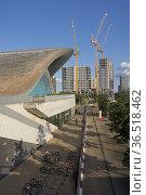 Eastbank development and new construction sites by the Olympic Aquatic... Редакционное фото, фотограф Julio Etchart / age Fotostock / Фотобанк Лори