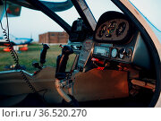 Cockpit view from small private single motor airplane. Стоковое фото, фотограф Zoonar.com/Max / easy Fotostock / Фотобанк Лори