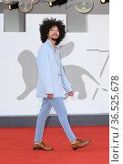 Lucas Oranmian during La Caja premiere, 78th Venice Film Festival... Редакционное фото, фотограф AGF/Maria Laura Antonelli / age Fotostock / Фотобанк Лори