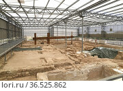 Roman village of Loma del Regadio (oil and wine production) in Urrea... Стоковое фото, фотограф J M Barres / age Fotostock / Фотобанк Лори