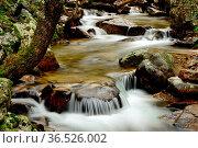 Small waterfall close to Purgatorio Waterfalls, Aguilon or Navahondilla... Стоковое фото, фотограф Pablo Méndez / age Fotostock / Фотобанк Лори