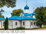Church of the Entry of the Theotokos in Feodorovsky Monastery in Pereslavl... Стоковое фото, фотограф Zoonar.com/Boris Breytman / easy Fotostock / Фотобанк Лори