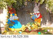 Osterfiguren, ostern, osterfest, fest, feiertag, brauch, brauchtum... Стоковое фото, фотограф Zoonar.com/Volker Rauch / easy Fotostock / Фотобанк Лори