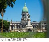 Palace of the Argentine National Congress. Стоковое фото, фотограф Яков Филимонов / Фотобанк Лори