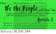Written constitution of the United States 4k. Стоковое фото, агентство Wavebreak Media / Фотобанк Лори