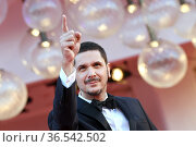 Gabriele Mainetti during 'Freaks Out' red carpet during the 78th ... Редакционное фото, фотограф AGF/Maria Laura Antonelli / age Fotostock / Фотобанк Лори
