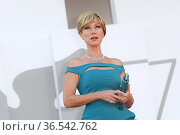 Nancy Brilli during 'Freaks Out' red carpet during the 78th edition... Редакционное фото, фотограф AGF/Maria Laura Antonelli / age Fotostock / Фотобанк Лори